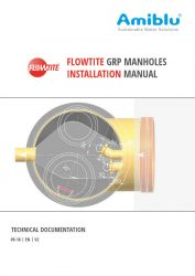 1809 Flowtite GRP Manhole Installation Manual Cover