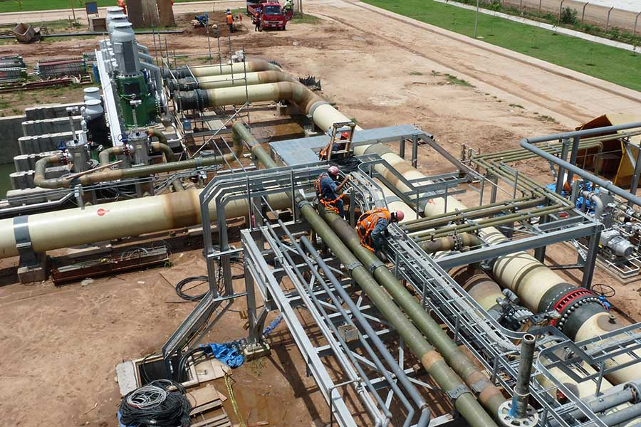 Flowtite GRP pipes thermoelectric power plant Bolivia