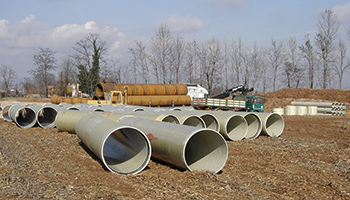 Flowtite agricultural irrigation pipes Italy
