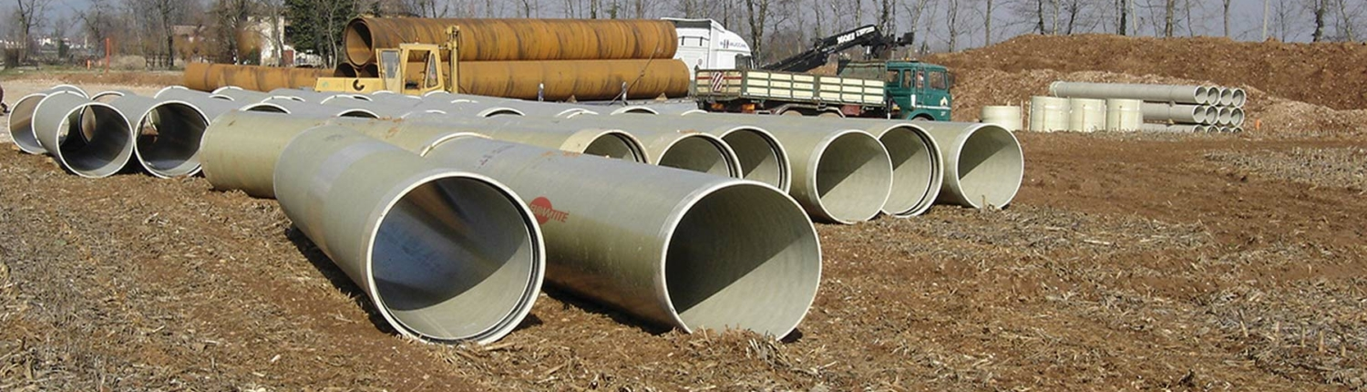 Flowtite pipes for agricultural irrigation system Italy